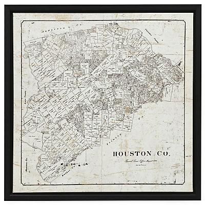 Houston Map Canvas Art