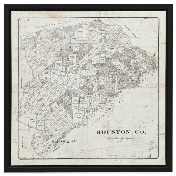 Houston Map Canvas Art
