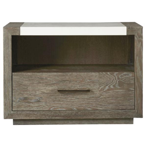 Modern-Charcoal Wilshire Nightstand