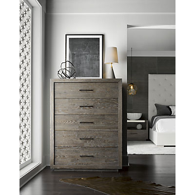 Modern-Charcoal Wilshire Drawer Chest