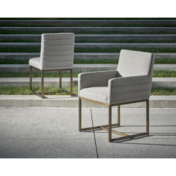 Modern-Quartz Cooper Arm Chair
