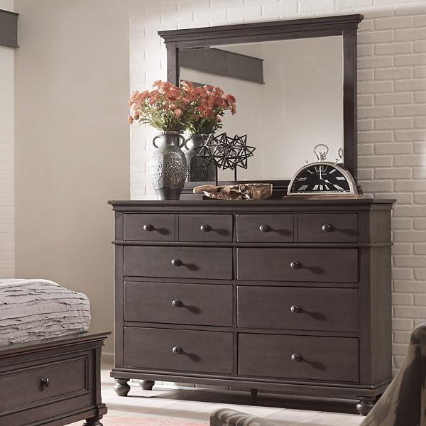 Oxford Dresser Chest - PEPPERCORN
