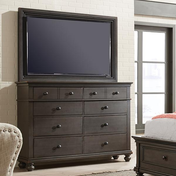 Oxford TV Frame with TV Mount - PEPPERCORN