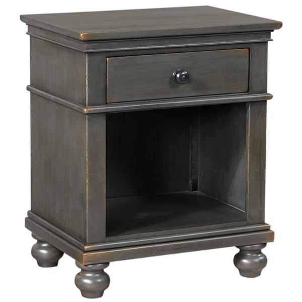Oxford Peppercorn 1 Drawer Nightstand