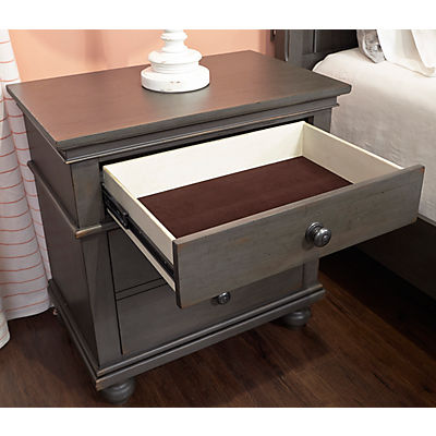 Oxford Peppercorn 2 Drawer Nightstand
