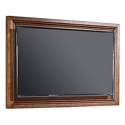 Oxford Whiskey Brown TV Frame with TV Mount