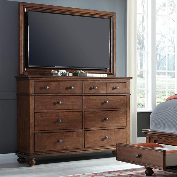 Oxford TV Frame with TV Mount - WHISKEY BROWN