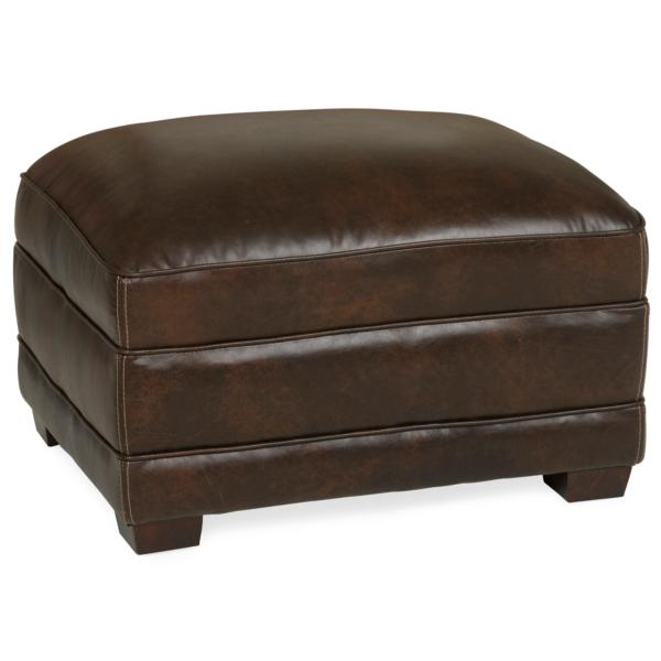 Palermo Hill Country Leather Ottoman