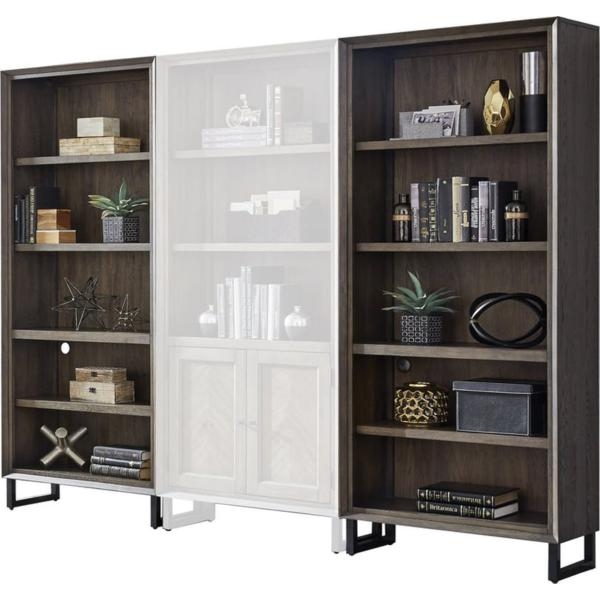 Harper Point Open Bookcase - Fossil