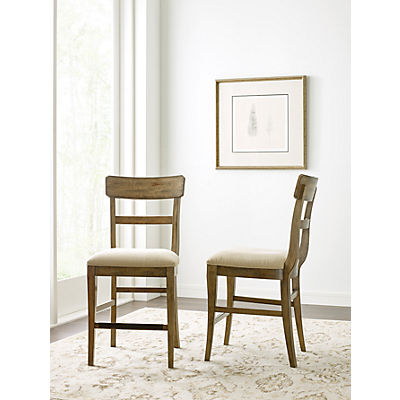 The Nook Oak Upholstered Seat Counter Height Chair