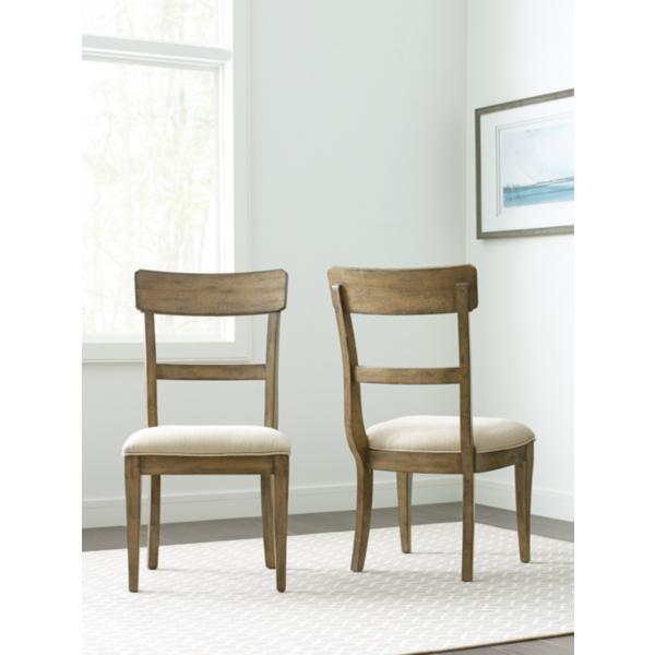 The Nook Oak Upholstered Seat Side Chair