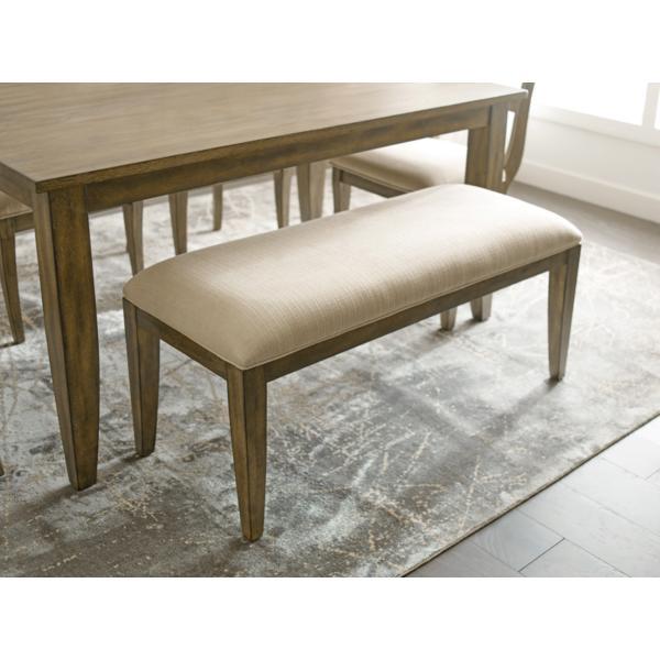 The Nook Oak Upholstered Bench