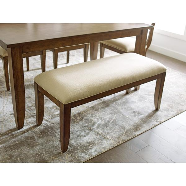 The Nook Maple Upholstered Bench