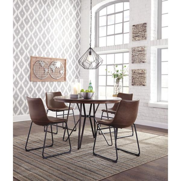 Carter Dining Side Chair - BROWN