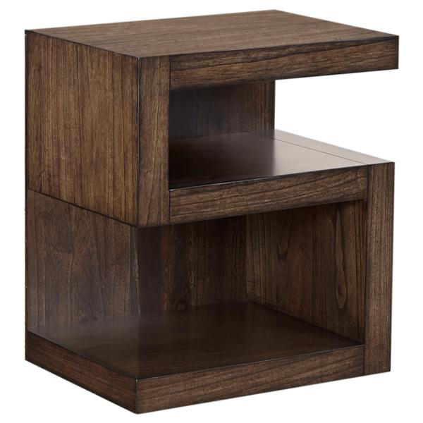 Modern Loft S-Shaped Brownstone Nightstand