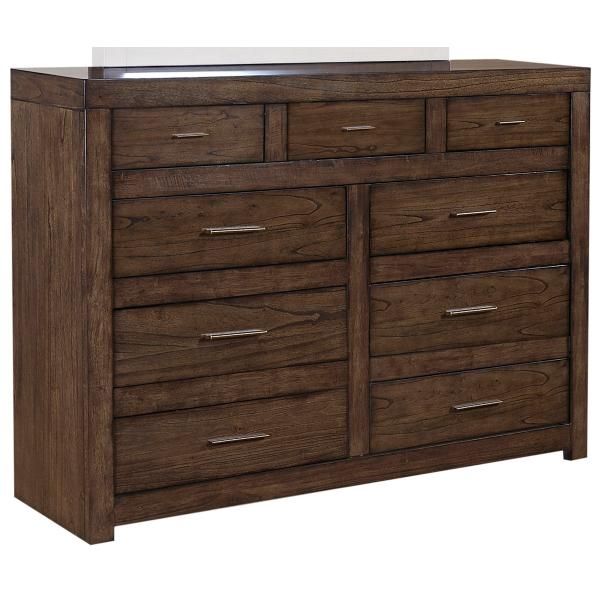 Modern Loft Brownstone Dresser Chest