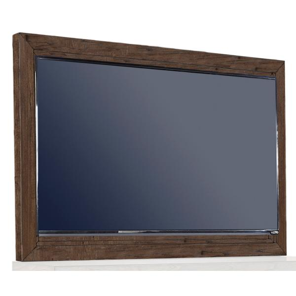 Modern Loft Brownstone TV Frame with TV Mount