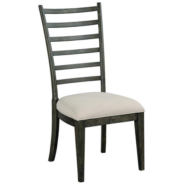 Plank Road Oakley Ladder Back Side Chair - CHARCOAL