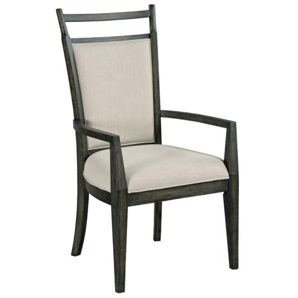 Plank Road Oakley Upholstered Back Arm Chair - CHARCOAL