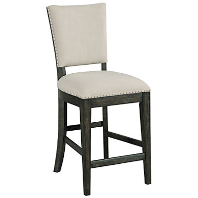 Plank Road Kimler Upholstered Counter Height Chair - CHARCOAL
