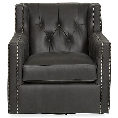 Candace Leather Swivel Chair
