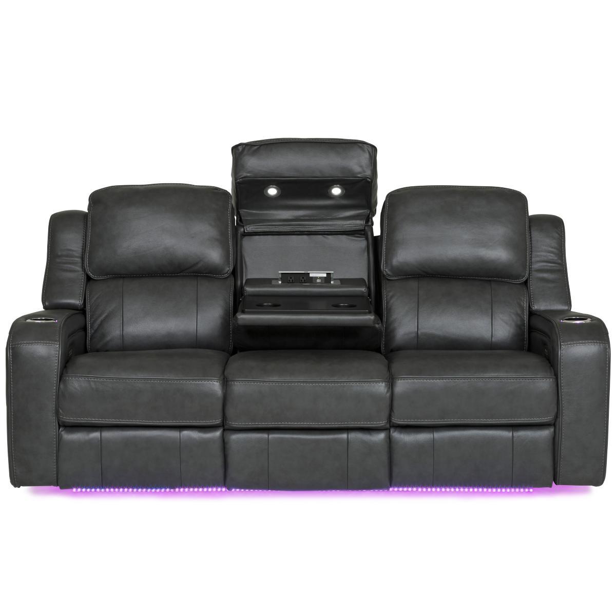 Palermo Leather Power Reclining Sofa - SMOKE | Star Furniture
