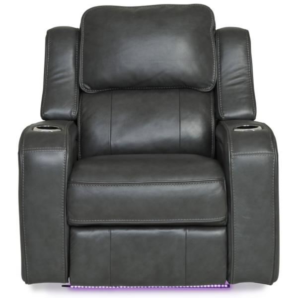 Palermo Leather Power Recliner - SMOKE