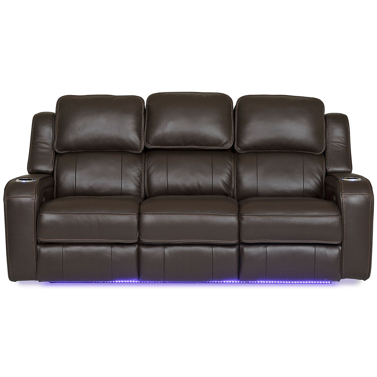 Palermo Leather Power Reclining Sofa - CHOCOLATE | Star Furniture
