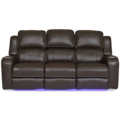 Palermo Leather Power Reclining Sofa - CHOCOLATE