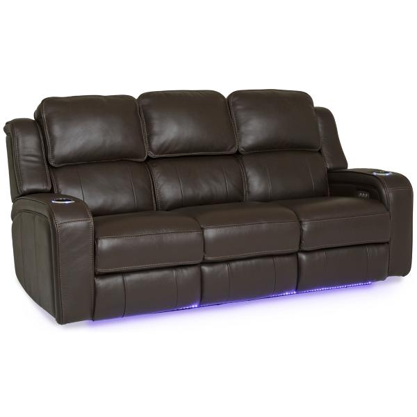 Palermo Leather Power Reclining Sofa - CHOCOLATE