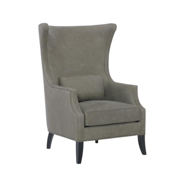 Larson Leather Wingback Chair