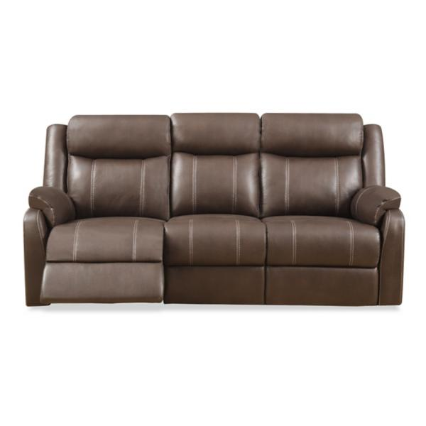Bingo Reclining Sofa with Drop Down Table - CHOCOLATE