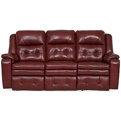 Inspire Leather Power Reclining Sofa - MARSALA