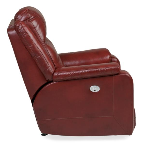 Inspire Leather Rocking Power Recliner - MARSALA