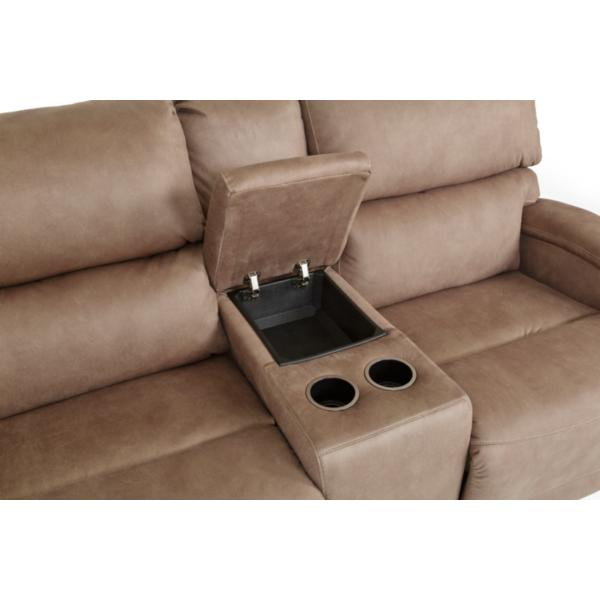 Fandango Power Reclining Console Loveseat