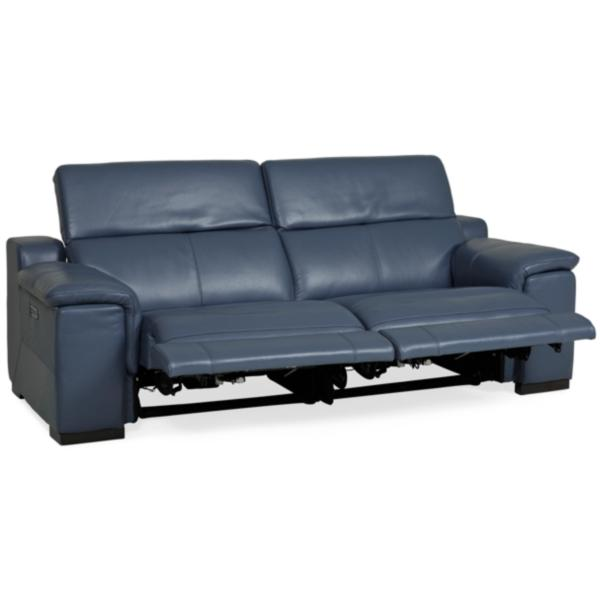 Remarkable Sky Leather Power Reclining Sofa Ocean Blue Star Furniture Alphanode Cool Chair Designs And Ideas Alphanodeonline
