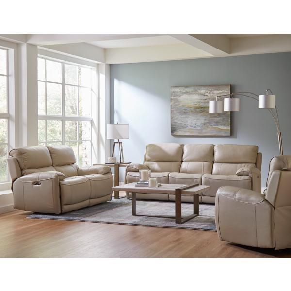 Breeze Leather Power Reclining Loveseat