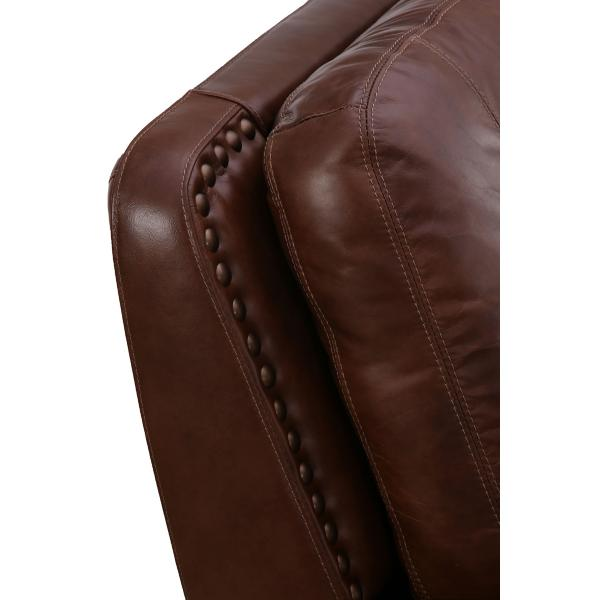 St. James Leather Power Reclining Sofa - TOBACCO