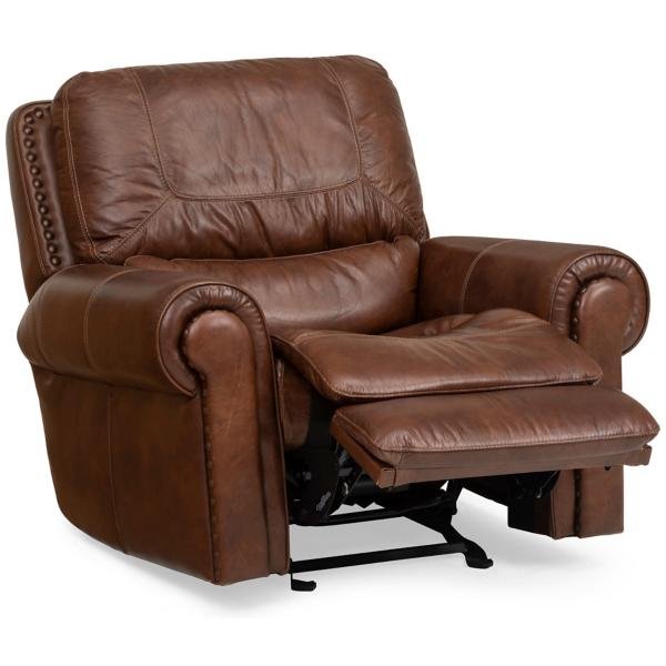 St. James Leather Gliding Power Recliner - TOBACCO