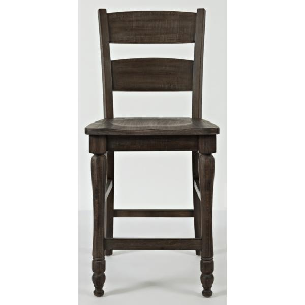 Ginger Ladderback Counter Stool - BARNWOOD
