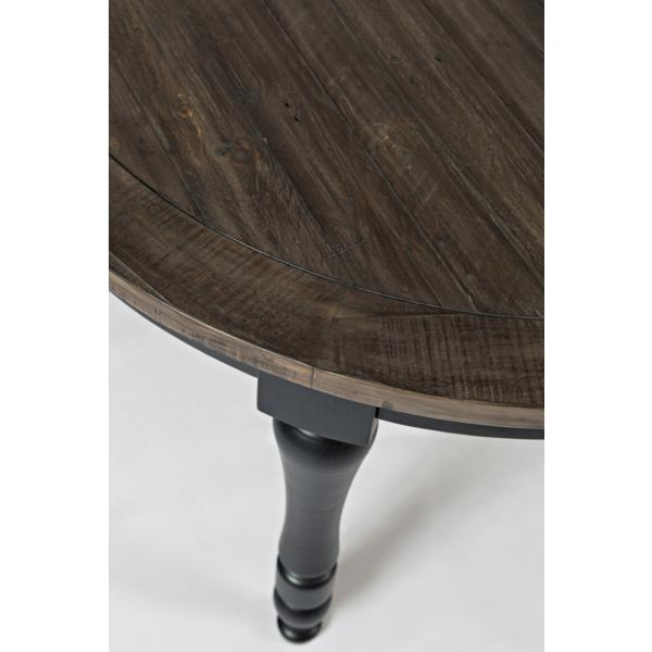 Ginger Round to Oval Dining Table - BLACK