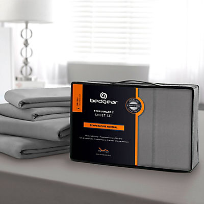 Bedgear Dri-Tec Lite Performance Sheet Set - QUEEN - GREY