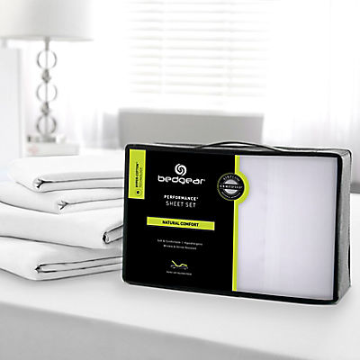 Bedgear Hyper-Cotton Quick Dry Performance Sheet Set - QUEEN - WHITE