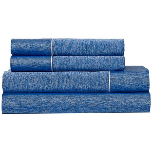 Bedgear Ver-Tex Performance Sheet Set - COBALT BLUE - SPLIT KING
