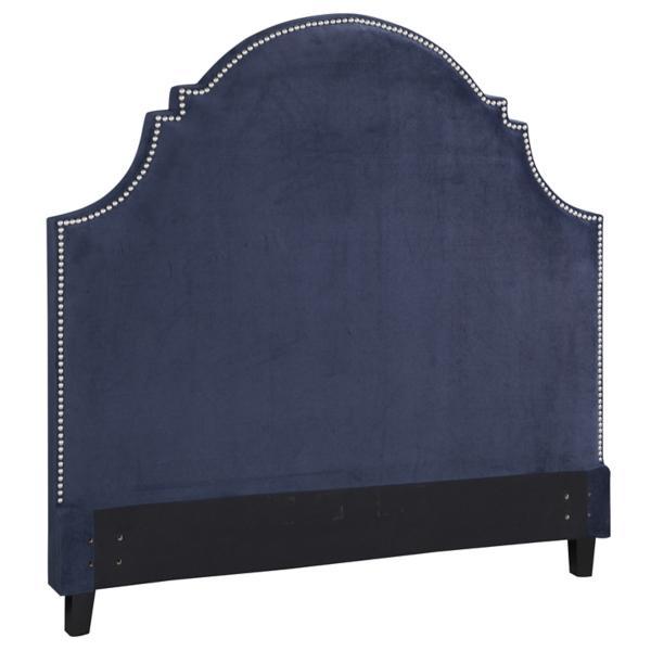 Ella Eclipse Blue Velvet Upholstered Headboard