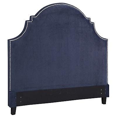 Ella Eclipse Blue Velvet King Upholstered Headboard