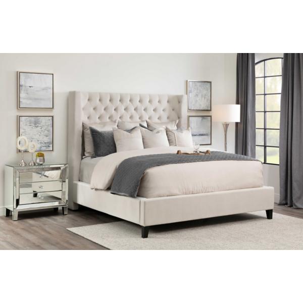 Olivia Ivory Upholstered Bed