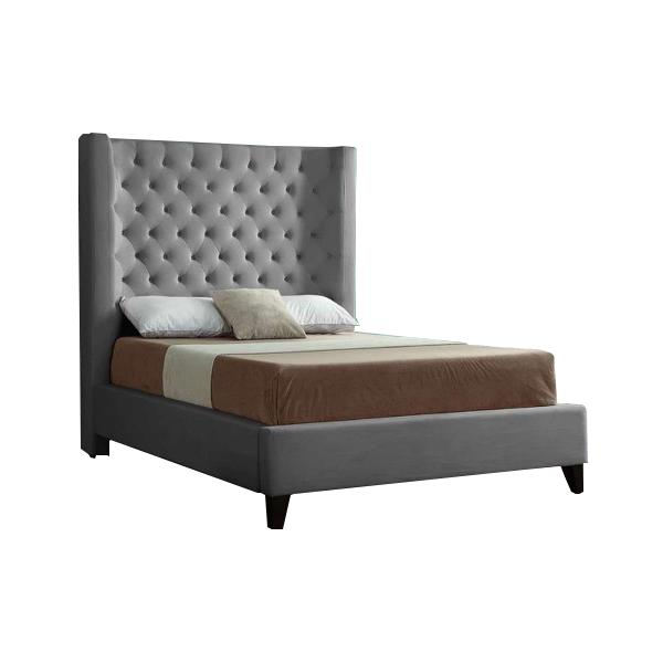 Olivia Graphite Upholstered Bed