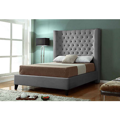 Olivia Graphite Queen Upholstered Bed