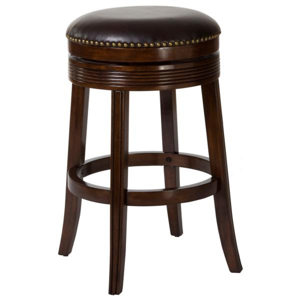 Taylor Brown Cherry Backless Barstool